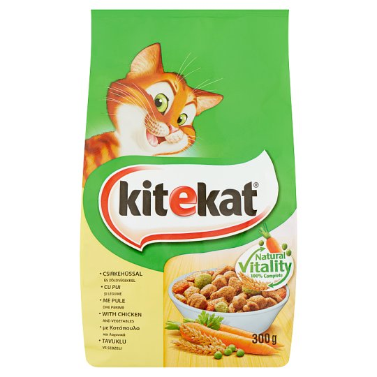 Kitekat Complete Pet Food for Adult Cats with Chicken and Vegetables 300 g