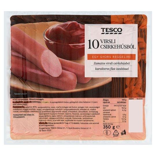 Tesco Smoke Flavoured Turkey Frankfurters 350 g