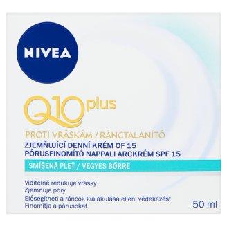 NIVEA Q10 Plus ránctalanító pórusfinomító nappali arckrém vegyes bőrre SPF 15 50 ml