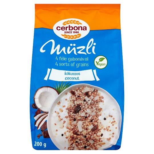 image 1 of Cerbona Muesli with Coconut 200 g
