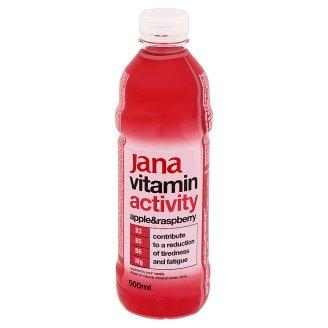 Jana Vitamin Activity alma-málna ízű szénsavmentes üdítőital cukorral és édesítőszerrel 500 ml