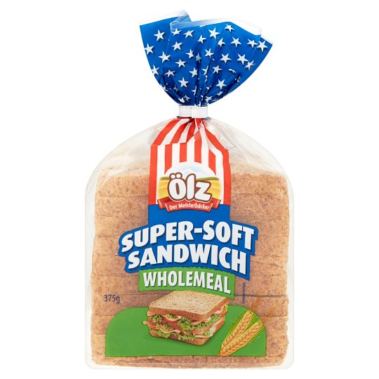 Ölz Wholemeal Soft Sandwich Bread 375 g