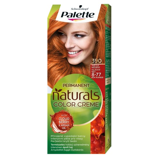 Schwarzkopf Palette Permanent Naturals Color Creme Hair Colorant 8-77 Light Copper (390)