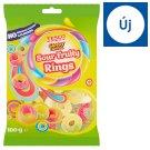 Tesco Candy Carnival Sour Fruity Rings gyümölcsízű gumicukor savanyúcukor bevonattal 100 g