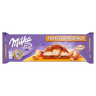 Milka Alpine Milk Chocolate Toffee Wholenut 300 g
