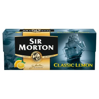 Sir Morton Classic Lemon citromízű fekete tea citromhéjjal 20 filter 30 g