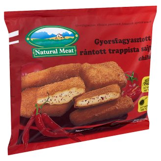 Natural Meat Quick-Frozen, Ready-Fried, Chili Flavoured, Breaded Trappist Cheese 500 g