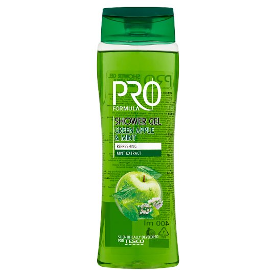 Tesco Pro Formula Apple & Mint Shower Gel 400 ml