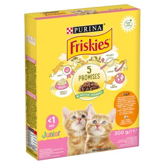 Friskies Junior Complete Food for Junior Cats & Pregnant/Nursing Cats 300 g