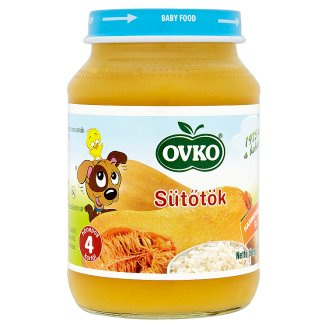 Ovko Gluten- and Dairy-Free Pumpkin Food for Babies 4+ Months 190 g