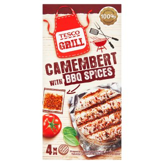 Tesco Grill Camembert Cheese with 16 g BBQ Spices 4 x 80 g