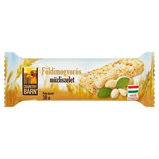 Country Barn Peanut Flavoured Muesli Bar 30 g