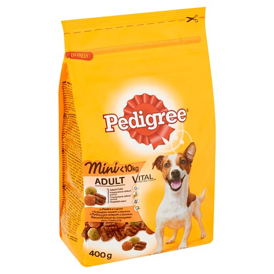 Pedigree Vital Protection Complete Pet Food for Small Adult Dogs with Poultry and Vegetables 400 g
