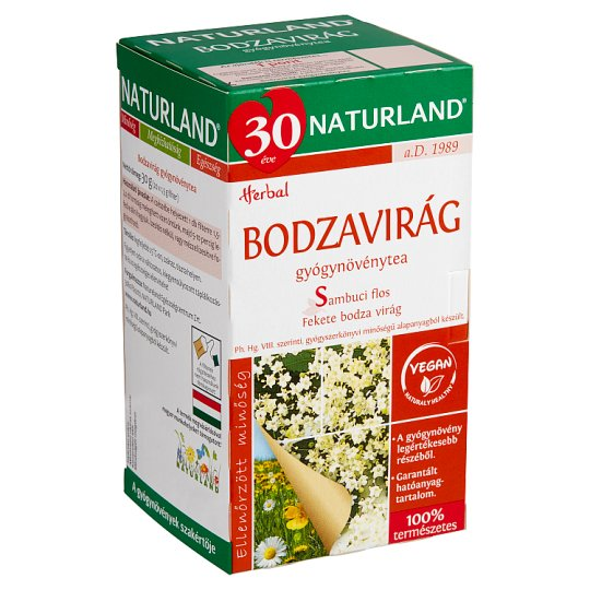 Naturland Herbal Elderflower Herbal Tea 20 Tea Bags 30 g