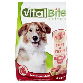 VitalBite Complete Dry Pet Food for Adult Dogs with Beef and Vegetables 8 kg