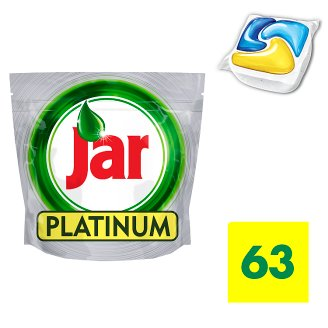 Jar Platinum Dishwasher Tablets Lemon 63 per Pack