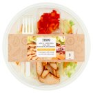 Tesco friss salátakeverék fűszeres csirkehússal és paprikával 230 g