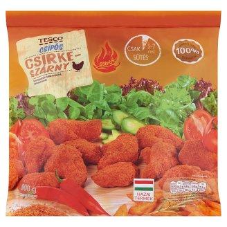 Tesco gyorsfagyasztott, készresütött, panírozott csípős csirkeszárny 900 g