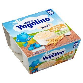 Nestlé Yogolino Vanilla Flavoured Baby Dessert with Durum Wheat Semolina 6+ Months 4 x 100 g