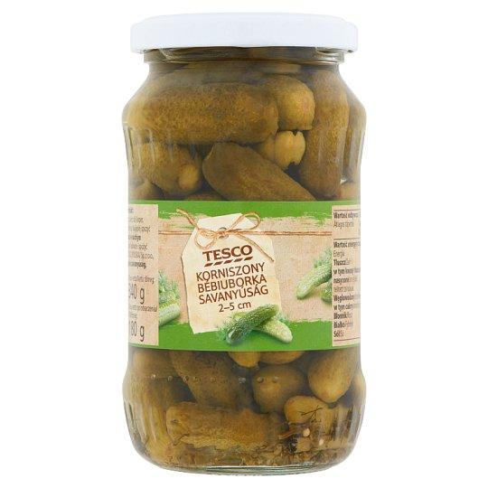 Tesco bébiuborka savanyúság 2-5 cm 340 g