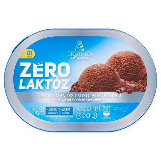 Gelatiamo Zero Chocolate Flavoured Ice Cream with Sugar and Sweetener 1000 ml