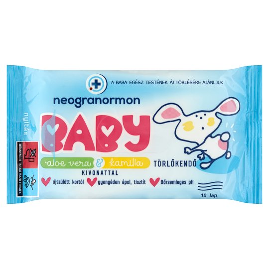 Neogranormon Baby Wipes with Aloe Vera & Chamomile Extract 10 pcs