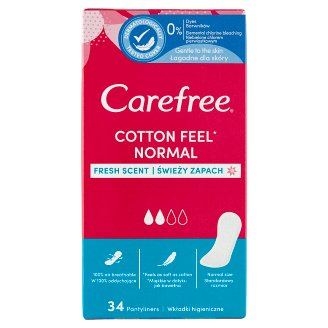 Carefree Normal with Cotton Extract Fresh Scent tisztasági betét 34 db