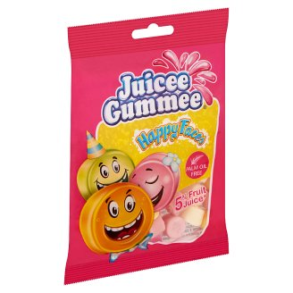 Juicee Gummee Happy Faces Fruit Flavoured Gums 80 g