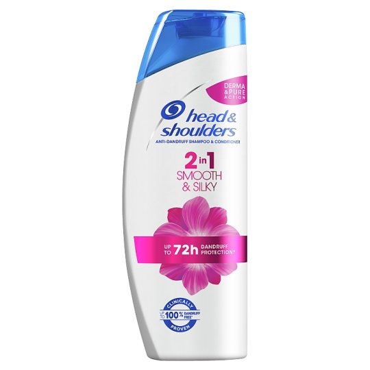 Head & Shoulders Smooth & Silky 2 Az 1-Ben Korpásodás Elleni Sampon, 360 ml