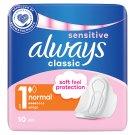 Always Classic Sensitive Normal Szárnyas Egészségügyi Betét, 10 db