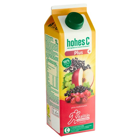 Hohes C Plus+ Antioxidáns Red Multivitamin 100% Mixed Fruit Juice 1 l