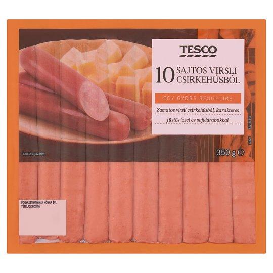 Tesco füst ízesítésű pulykavirsli sajttal 350 g