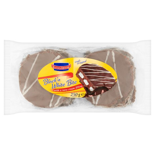 Kuchenmeister Black 'n White Bite with a Tasty Cream Filling 250 g