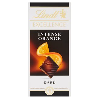 Lindt Excellence Intense Orange Dark Chocolate with Orange and Almond 100 g