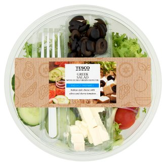 Tesco Greek Salad with Extra Virgin Olive Oil 210 g