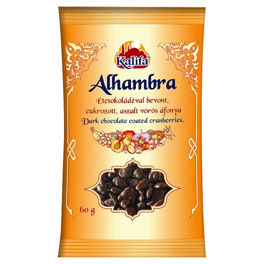Kalifa Alhambra Dark Chocolate Coated Cranberries 60 g