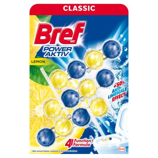 Bref Power Aktiv Juicy Lemon Toilet Block 3 x 50 g