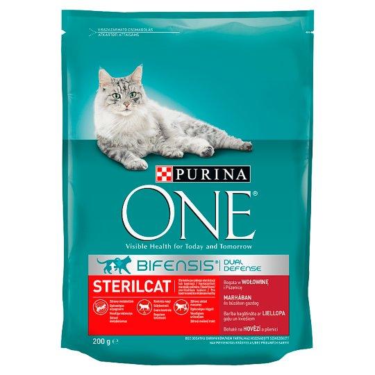 Purina One Sterilcat marhahúsban és búzában gazdag száraz macskaeledel 200 g