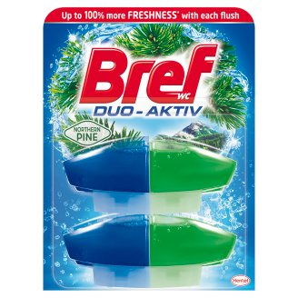 Bref Duo Aktiv Pine Toilet Block 2 x 50 ml