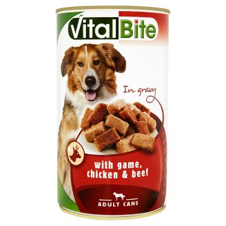 VitalBite Complete Food for Adult Dogs with Game, Chicken and Beef 1240 g