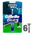 Gillette Blue3 Men's Disposable Razors Football Edition – 6 Pack