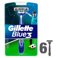 Gillette Blue3 Men's Disposable Razors Football Edition – 6 Pack