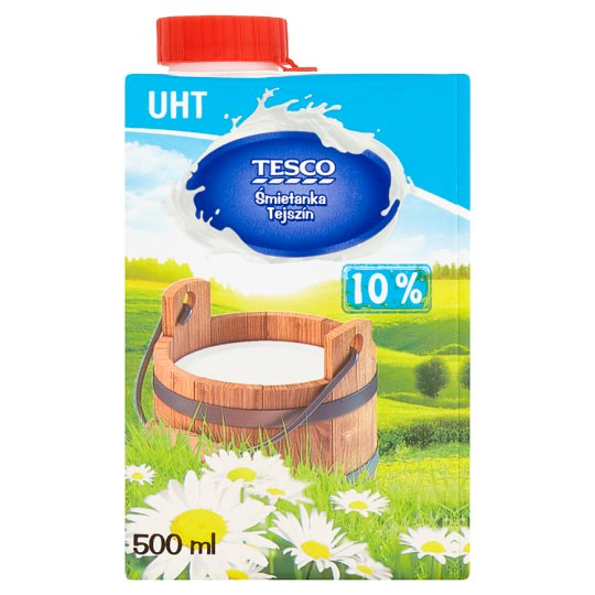 Tesco UHT Cream 10% 500 ml