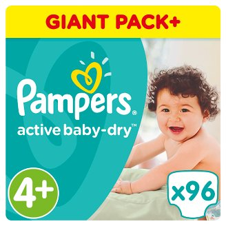 Pampers Active Baby-Dry Size 4+ (Maxi +) 9-16 kg, 96 Nappies