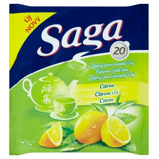 Saga Lemon Flavoured Green Tea 20 Tea Bags