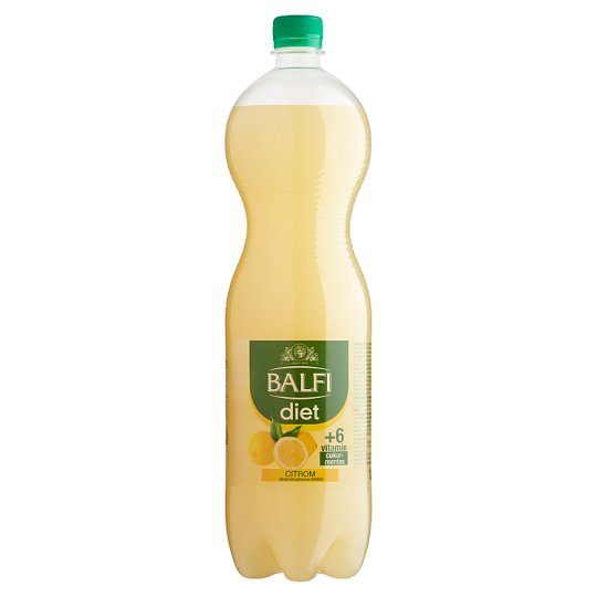 Balfi Diet Lemon Flavoured Carbonated Soft Drink 1,5 l