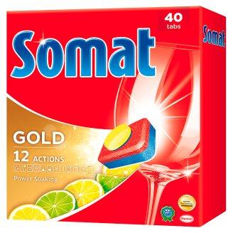Somat Gold Lemon & Lime gépi mosogatószer tabletta 40 db 760 g