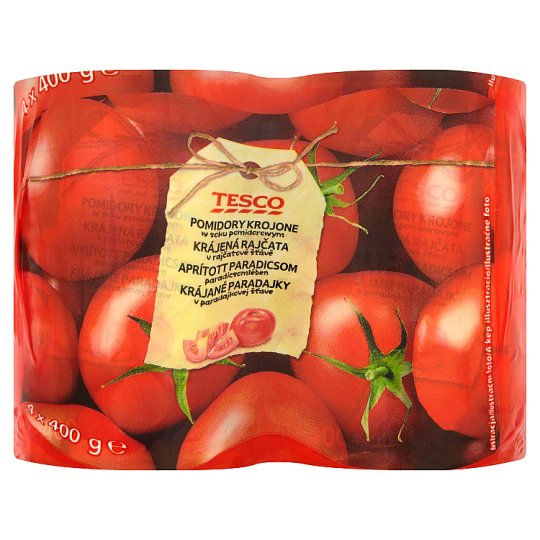 Tesco Chopped Tomatoes in Tomato Juice 4 x 400 g