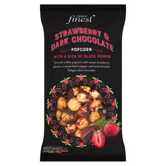 Tesco Finest Caramel Flavoured Popcorn with Dried Strawberry Pieces 170 g