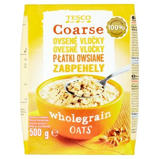 Tesco Coarse Wholegrain Oats 500 g